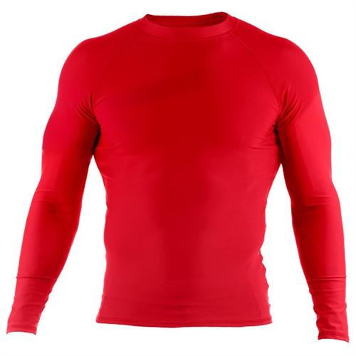 Clinch Gear Clinch Gear Basic Red Rashguard - Long Sleeve